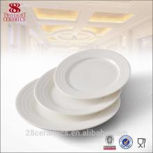 Assiette en céramique, Assiette ronde en porcelaine, Porcelaine en céramique pour hôtel