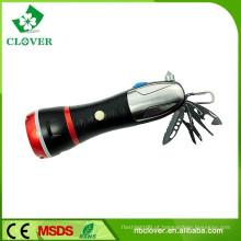 Com emergência martelo 3W LED e 4 LED vermelho poderoso levou lanterna