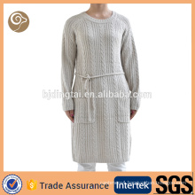 O neck knitted fashion women wool sweater