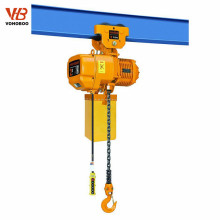 Fixed type 1 ton electric chain hoist with hook