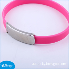 Pink Magnetic Silicone Wristband for Promotional Gifts