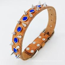 Genuine Leather rivite luxury Dog Collar dog collar