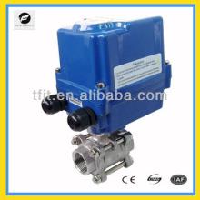 Vanne à bille électrique de CTF-004 24V DC, robinet à tournant sphérique électrique d'actionneur de PVC, robinet à tournant sphérique de PVC
