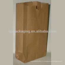 Hot Sale Brown Kraft Paper Food Packaging Bag