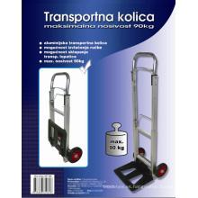 Plegable mano carretilla Ht1105, carretilla de aluminio, carrito de compras