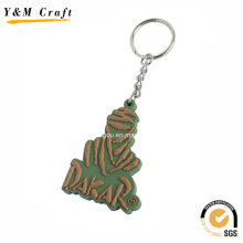 3D Design Personalised Silicon Rubber Key Tags Ym1130
