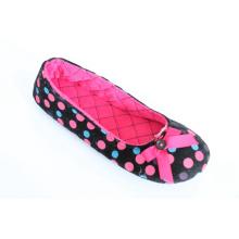 Soft ballet sapatos com gross grãos Bow