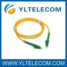 LC / APC, LC / APC solo modo APC fibra óptica Patch Cord y coleta