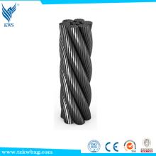 China Cuerda de alambre de acero inoxidable sin galvanizar barato para la venta cuerda de alambre de acero del elevador Supplier's Choice