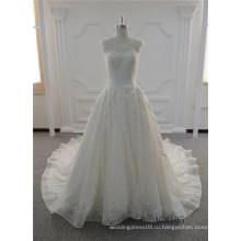 Изящные Кружева Цвета Слоновой Кости Линии Свадебное Платье Платье Свадебные Платья Кружева