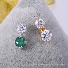 accesorios de moda 2018 hot cz pendientes de joyas con amatista verde