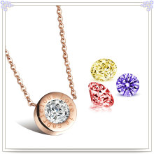 Jewelry Jewelry Crystal Jewelry Stainless Steel Pendant Necklace (NK264)