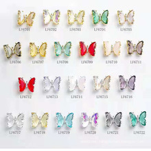 New Wholesale 3D Butterfly Nail Charm Butterfly Resin Nail Art Rhinestones Butterfly Decoration Nail Art Rhinestones