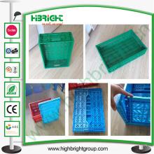 Caja plegable plástica, caja plegable, compartimientos plegables