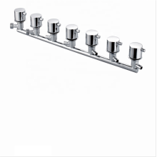 Factory chrome wall mount mixer 6 Ways Shower Siamese Thermostatic  Bath Shower Faucets