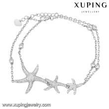 74615 Fashion Elegant Cubic Zirconia Bijoux Bracelet en couleur rhodium