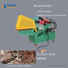 Máquina de corte de cocodrilo de chatarra de acero