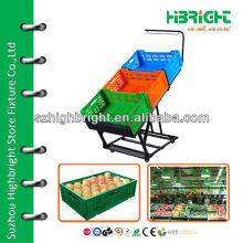 supermarket fruits and vegetables rack