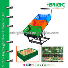 Стойка для фруктов и овощей в супермаркетах