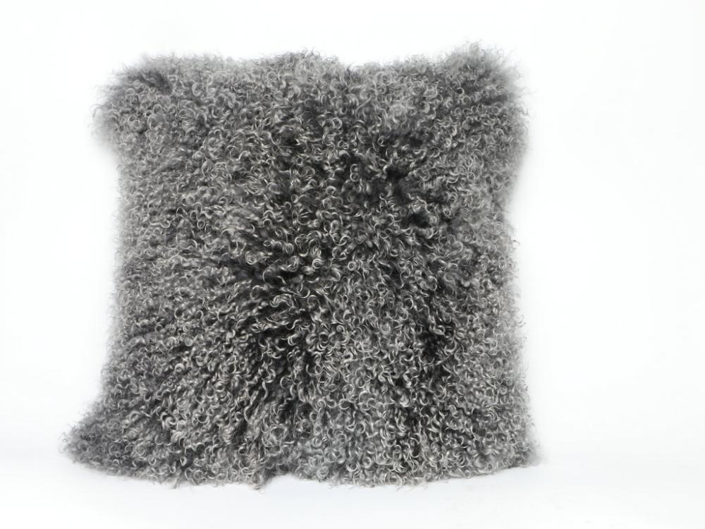 Mongolskt krulligt Fur Sheep Skin Pillow