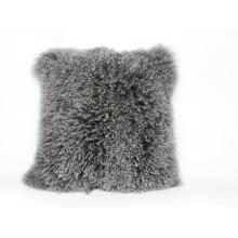 Long Hair Mongolian Lamb Skin Pillow