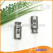 Metal cord stopper or toggle for garments,handbags and shoes KS3067#
