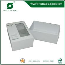 Белый картон Бумажная коробка с окном PVC