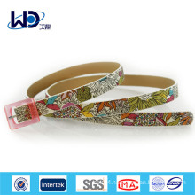 Blooming Colorful Printed PU Kids Belts