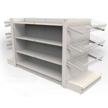 Metal grocery store display stand