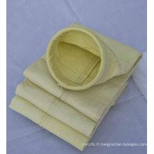 Sac filtrant de fibre de verre de filtre de sac d'impulsion de collecteur de poussière