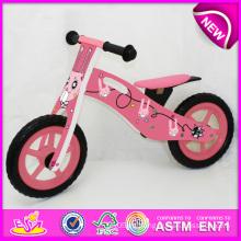 Juguete de madera 2014 de la nueva bicicleta para los niños, juguete de madera popular de la bici para los niños, bicicleta de madera del juguete del nuevo estilo para la fábrica W16c079 del bebé