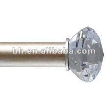 crystal end curtain rods, diamond curtain rods, acrylic curtain rods