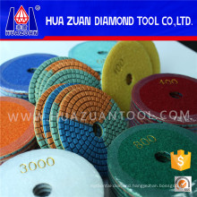 Wonderful 3-Color Wet Polishing Pad for Granite