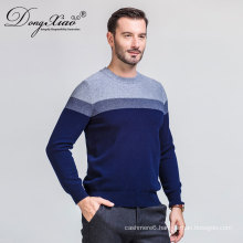 Winter Man Computer Knitted Stitching Color Sweater cashmere From China Factory