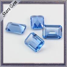 Octagon Emerald Cut # 119 Spinelle Bleu Synthetique Saphir