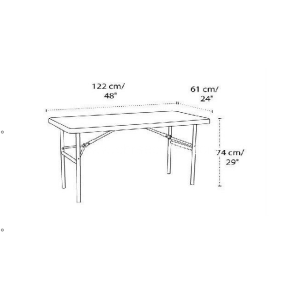 HDPE Folding table