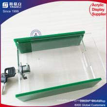 High Quality Green Acrylic Donation Box with Lock