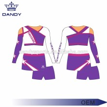 Custom sublimation printing design cheerleading uniform