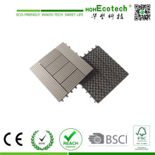 Engineered Flooring Type and Wood-Plastic Composite Flooring Technics WPC Eco Patio Floor Tiles