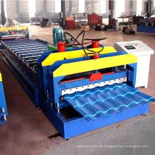 Rollo del panel de la teja del paso de la techumbre del metal de la placa de acero fría que forma la máquina