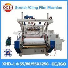Máquina de extrusión de película plana de plástico