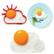 Heat Resistant Funny Breakfast Sunnyside Shape Silicone Fried Egg Molds