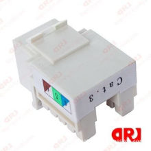 Audio & Video Utp Cat3 Keystone Jack Conform To Via 568b Category 3