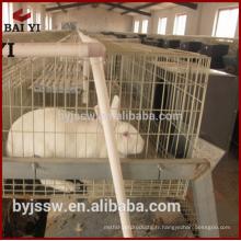 Cage de lapin de viande de conception commerciale pour la ferme de lapin