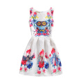 Hot Sale Baby Girl Summer Printed Sleeveless Frock Designs Kid Dresses Flower Girl Child Dress