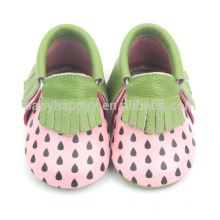 New arrival infant moccasins shoes cute girls real leather shoes