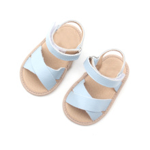 Mjukt Sole Leather Roligt Skidtät Baby Sandals Skor