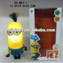 Despicable ME 2 9 inch Vinyl doll moveable with light music
