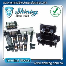 TD-025 600V 25 Amp Tipo de carril Altavoz Cable de doble capa Conector