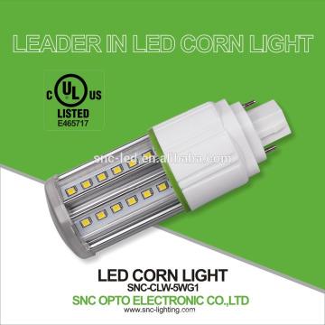 Le SNC a mené le maïs 5w G24d de lumières de trou de maïs, la lumière de maïs d'ampoule de maïs de base de G24q / lampe 5w lumière de maïs